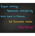 Success quotes vector image