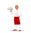 Male chef in uniform vector image vector image