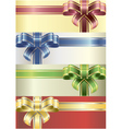 coloured bows vector image