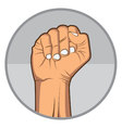 Fist Hand With Nail EPS10 vector image