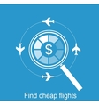 online search the airline tickets vector image