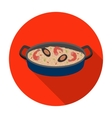 Paella icon in flat style isolated on white vector image