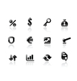 Perfect icons for business and finance vector image