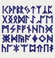 Runic script vector image