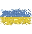 Ukrainian grunge tile flag vector image