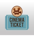 camera movie vintage ticket icon design vector image vector image