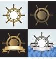 Ship Helm Backgrounds Set vector image