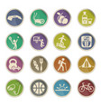 healthy lifestyle icon set vector image