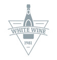 White wine logo simple gray style vector image