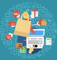 Modern digital shopping vector image