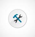 repair icon 2 colored vector image