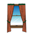 window  curtains vector image