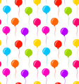 Seamless Texture Multicolored Balloons for Party vector image