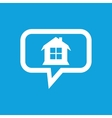 House message icon vector image