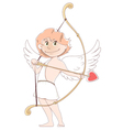 smilling cupid vector image vector image