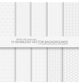 10 white tile backgrounds vector image