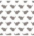 a seamless wolf pattern vector image