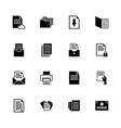 documents - flat icons vector image