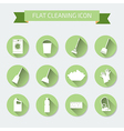 Flat color set of icons House cleaning and laundry vector image