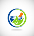 mortar medicine pharmacy logo vector image
