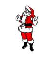santa claus with thumb up sketch vector image