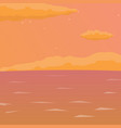 sea background with waves and clouds flat vector image