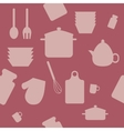 seamless pattern with cooking icons vector image