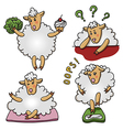 Set of funny sheep characters vector image