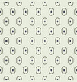 small oval shapes 60s seamless pattern vector image