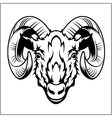 Ram head logo or icon in black and white vector image