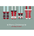 Family feet in Christmas socks vector image