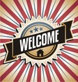 Welcome home vintage poster vector image