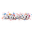 Anniversary paper banner vector image