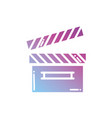 contour clapperboard object to short film vector image