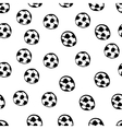 Football balls seamless pattern vector image