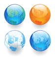 Four Globes vector image