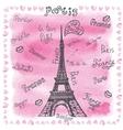 Love in ParisWatercolor decorlettering vector image