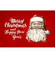 Merry Christmas and Happy New Year banner Santa vector image