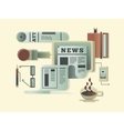 News design concept vector image
