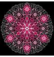 round floral vintage pattern vector image