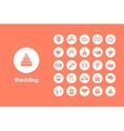 Set of wedding simple icons vector image