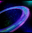 shining neon circles baclground vector image