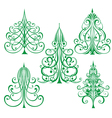 decorated Christmas trees vector image vector image