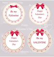 Valentines day badges and labels vector image vector image