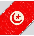 Tunisian grunge flag vector image
