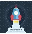 Successful Start Up Cartoon Web Banner vector image