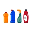 Cleaning service Cleancer house tools icons logo vector image vector image