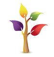 Colorful tree icon vector image vector image