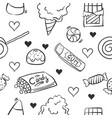 doodle of candy sweet various collection vector image