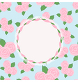 Pretty rose design with vacant central cartouche vector image